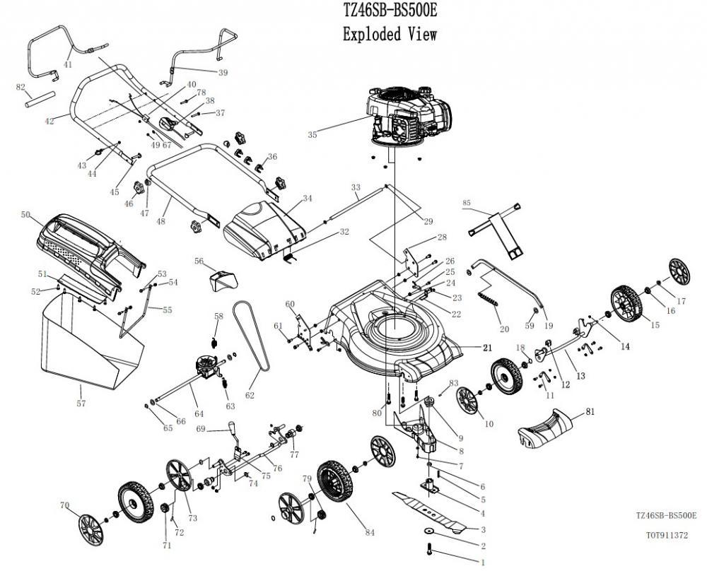 gardif ER Tech illustrated parts list 46 cm 500eb id tech spm hw